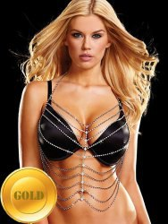 Топ из кристаллов Ann Devine - Rhinestone Hottie Top – золотой