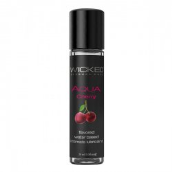 Лубрикант со вкусом сладкой вишни WICKED AQUA Cherry 30 ml