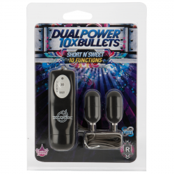 Две вибропули 10X Dual Power Bullets - Short n Sweet – черный