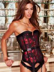 Корсет Satin and Lace Corset – красный, XL
