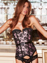 Корсет Satin and Lace Corset – розовый, XL