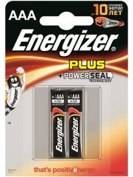 Щелочные батарейки Energizer AAA Base (PLUS) - 2 шт.