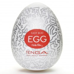 Мастурбатор-яйцо Tenga Keith Haring Egg - Party – прозрачный