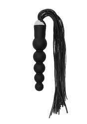 Фаллоимитатор из силикона Black Whip with Curved Silicone Dildo - Black