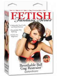 Кляп с ограничителями Breathable Ball Gag Restraint